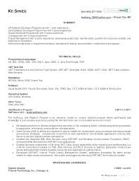 Resume Format For 40 Years Experience In Net Luxury Experienced New Software Developer Resume Format