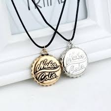 bottle cap jewelry steampunk antique gold silver cola drink bottle cap necklace with leather rope game bottle cap