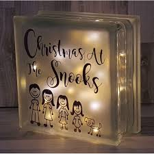 personalised decoration glass block