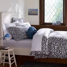 urban ikat organic duvet cover pillowcases gray