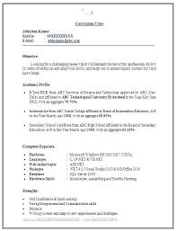 Resume Samples Doc File Resume Format For Word Vitae Template Latest