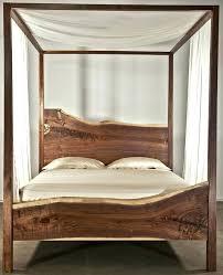 Wood Canopy Bed Frame Wood Canopy Bed Frame Queen Appealing Size ...