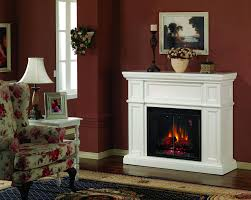 shop real flame 48 in w 4 780 btu white wood wall mount. mofta ...