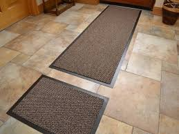 dark beige non slip kitchen runner rug door mat set machine washable