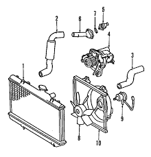 parts com® toyota celica cooling system oem parts 2000 toyota celica gts l4 1 8 liter gas cooling system