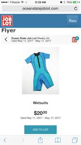 ocean state job lots flyer cheap wetsuits for travel coming soon scubaboard