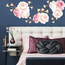 fl wall decals fl wall decal pink and gold flower wall decals just for you decals fl wall decals