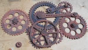 steampunk gear wall art