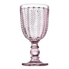 pink crystal goblets set of 4