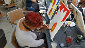 rooftop wine and paint night resident appreciation week 2m street apartments in washington