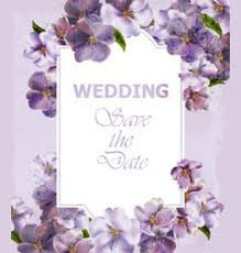 <b>Flowers</b> Invite <b>Wedding Purple</b> Vector Images (over 3,000)