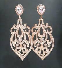 wonderful gold chandelier earrings pink chandelier earrings vintage pink bridal jewelry bridesmaids