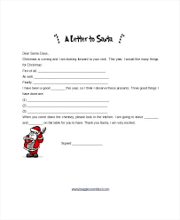 Free Letter From Santa Word Template Santa Letter Template