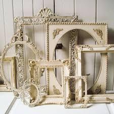 antique picture frames. Antique Cream And Gold Ornate Vintage Frames, Large Open Antique Picture Frames