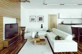 Contemporary White Living Room living room modern living room