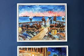 they actually did 4 paintings total but the other 2 are at chris s pas house the 3rd painting at the bottom of this triptych is one i painted at the