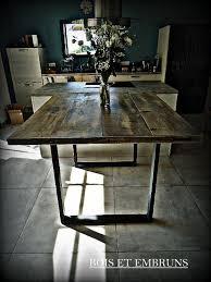 Table Haute Table De Cuisine Plan De Travail Mange Debout En Bois