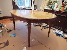 Refinishing A Kitchen Table Refinishing Oak Dining Table Free Image