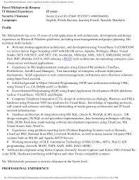 Application Architect Resume Enterprise Architect Resume Samples
