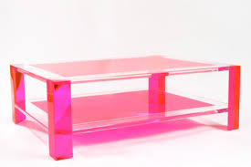 Creative of Pink Coffee Table Acrylic Coffee Table In Pink