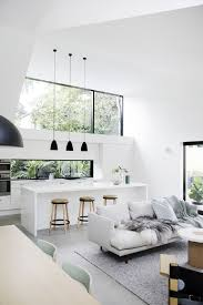 amusing white room. Amusing White Living Room Set Off Leather Gloss Bar Table Black Pendant Lamp Couch Round Wooden Stools