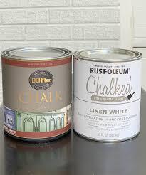 Behr Chalk Paint Vs Rust Oleum Chalk Paint Sarah Joy Blog