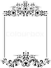 vintage black frame. Illustration Of Vintage Frame With Copyspace In Black And White | Stock Photo Colourbox