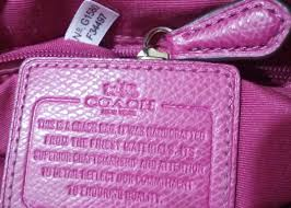coach purse serial numbers