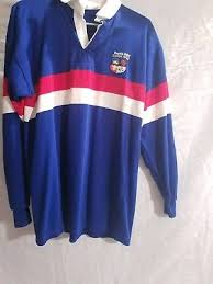 vintage 90s rugby shirt stripe color block multicolor size large red white blue
