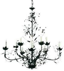 wrought iron crystal chandelier wrought iron crystal