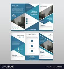 Company Catalog Design Templates Blue Business Trifold Leaflet Brochure Templates