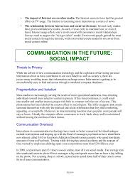 c social effects of mass communication im18 8 9 • the impact of internet