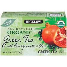 bigelow organic green tea w pomegranate acai 1 28 oz organic tea bags