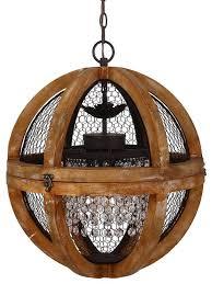rosard wooden convertible pendant light