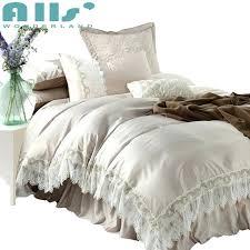 elegant duvet covers champagne color bedding set queen size elegant lace polyester duvet cover cotton bed