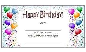 Birthday Coupon Template Microsoft Word Birthday Gift Certificate