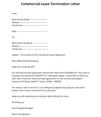 lease termination letter sles