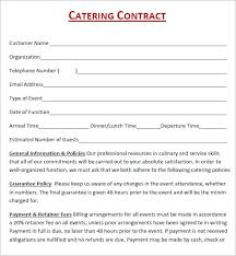 Example Of Catering Contract Sample Of Catering Contract Template Pdf 3774