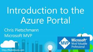 Microsoft Mvp Certification Introduction To The Azure Portal Mvp Microsoft Azure Channel 9