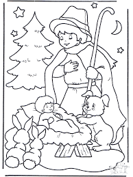 Kind In Kribbe Kleurplaten Kerst