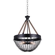 cwi lighting mackenzie 5 light antique black chandelier