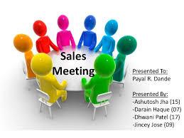 Sales Presentation Template Mesmerizing Sales Meeting