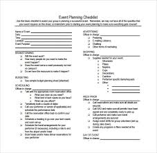 Free Event Planner Templates Sample Event Checklist Template 12 Free Documents