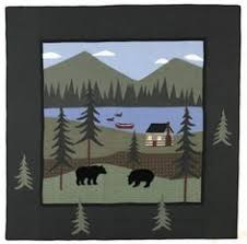 Woodland Applique | Home, UX/UI Designer and Quilting & black bear quilt Adamdwight.com