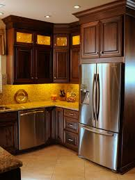 Kitchens With Cherry Wood Cabinets And Stainless Steel Appliances
