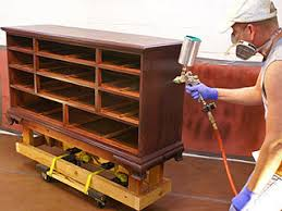 paint sprayer for furnitureRefinishing Old Furniture How To Apply Wood Stain and
