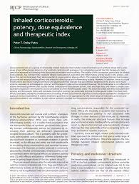 Pdf Inhaled Corticosteroids Potency Dose Equivalence And