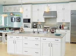 white kitchen cabinet. Attractive Plain White Kitchen Cabinets How To Realize This Design Cabinet T