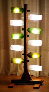 diy lighting fixtures. upcycled wine bottled into floor standing lamp diy lighting fixtures c