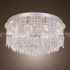 flush mount crystal chandelier uk designs